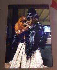 New Zealand Lady In Crazy Outfit & Baby Orangutan 1961 35mm Kodachrome Slide