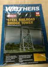 4555 Walthers Steel Railroad Bridge Tower Bent 2-Pack Trestle HO Scale Kit,opend