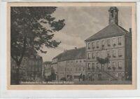 Ansichtskarte Bischofswerda - Blick auf den Altmarkt mit Rathaus - schwarz/weiß