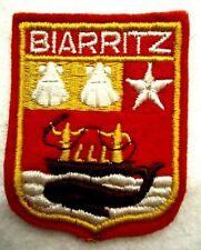 ECUSSON BIARRITZ -FRENCH CITY BADGE