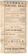 *EARLY SAN FRANCISCO THEATRE: ARCHIVE OF SEVEN 1860s and 1870s HANDBILLS*