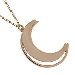 """Sale: Unusual Fashion Jewellery: Long ROSE GOLD 28"""" (72cm) Necklace with Outl..."""