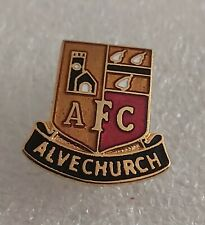 More details for alvechurch afc (nr bromsgrove, worcs) enamel football club crest pin badge