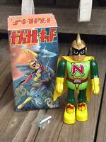 """RARE ~ BILLIKEN 1995 NATIONAL KID Wind up 9"""" Walking Tin Toy Robot ~ JAPAN"""