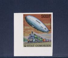 tcb/   Comores  train et dirigeable   n d  1977    500f   num:  122  **