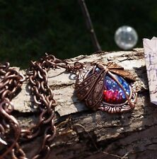 Opal Necklace Dragonfly Fire