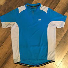 Men's Nishiki Short sleeve cycling top ..size large ..blue and gray