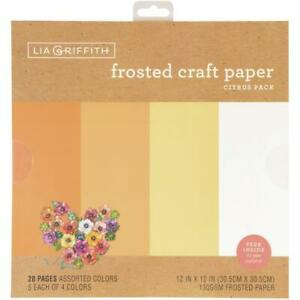 """Lia Griffith 12"""" Frosted Craft Paper Citrus  12""""x12"""", 20pk"""