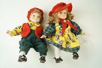 2 x Hilde Herz Puppe Puppen Porzellan hübsch W-2568