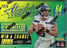 2018 Panini ABSOLUTE Football NFL Trading Cards New 64ct. Retail Blaster Box FS