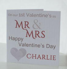 1st Valentines Day card as Mr & Mrs, First as newlyweds, New Husband, New Wife