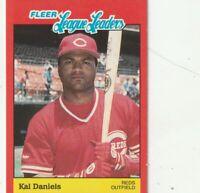 FREE SHIPPING-MINT TO NRMINT-1989 Fleer League Leaders #8 Kal Daniels REDS