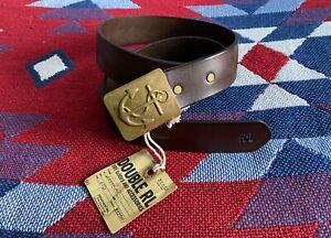 Double RL Ralph Lauren RRL Belt Leather ⚓️