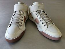 Men's Lanvin Leather & Pecari Velcro Mid Top sneakers made in Italy size 11 UK