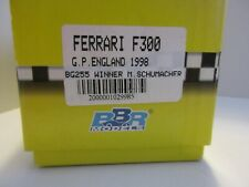 BBR 1/43 FERRARI F300 GP ENGLAND 1998 WINNER M. SCHUMACHER BUILT MODEL BG255