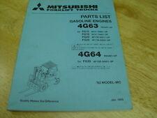 Mitsubishi  Forklift  OEM GAS  ENGINES  Parts List 4G63/4G64    1993 LQQK!