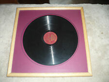 Antique ENRICO CARUSO Framed RECORD LP Victrola 78rpm VICTOR Talking MACHINE NJ