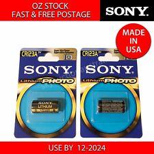 2x Sony Xtra CR123A CR17345 3V Lithium Battery CR123 EL123A  DL123A Arlo Camera