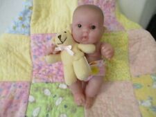 Berenguer chubby cheeks baby with diaper and teddy lovey - Excellent