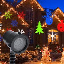 Proiettore Laser LED RGB Natale per Esterno Giochi di Luce Disegni Natalizi
