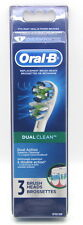 Oral B Dual Clean 3 Pack EB417-3 Toothbrush Replacement Heads. NEW SEALED