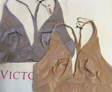 Lot of 2 Victorias Secret BBV Lounge Unlined Plunge Racerback Bra 34B NWT E839