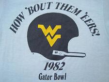 West Virginia 1982 vtg Wvu Mountaineers football T Shirt 50/50 80s gator bowl Xs