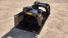 """New 84"""" skeleton rock bucket with grapple Open sides design, Skid Steer, Tractor"""