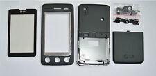 Full Black Housing cover Case fascias facia faceplate For LG Kp500 Cookie
