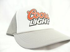 Coors Light Trucker Hat Mesh Hat Snap Back Hat adult adjustable grey