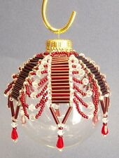 """PATTERN ONLY Beaded Christmas Ornament Cover Holiday Original """"Tiffany"""""""