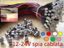 Cielo Stellato 10 X LED 5mm 12-24V Cablati spia Lampada holder pre-wired RGB