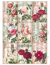 Aufkleber-Folienaufkleber-Etiketten-Sticker-Vintage-Nostalgie-Hortensie-1233