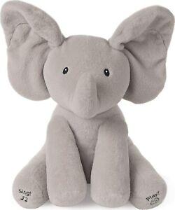 Peek A Boo Elephant Plushie Musical Baby 0M+ Newborn Grey