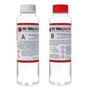 TFC EP01 Epoxy Epoxid Giessharz Epoxidharz Laminierharz bis 10mm glasklar 290g