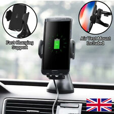 FAST Wireless Charger PHONE CAR Holder for Samsung Galaxy S9 S8 S7 S6 edge Note8