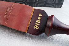 Vintage razor strop Biber Solingen Rasiermesser Juchten Streichriemen Stoßriemen