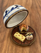 Vintage Limoges Trinket Box - Cheese Tray