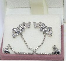 AUTHENTIC PANDORA Sparkling Butterfly Stud earrings,  297964CZ  #1948