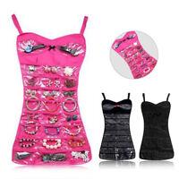Hot Jewelry Brooch Closet Display Organizer Dress Hanging Holder Pocket Storage