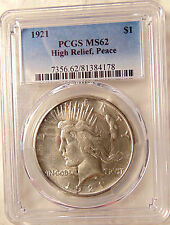 "1921 Peace Silver Dollar - Scarce ""KEY"" Date -  PCGS MS62 - Very Pretty BU Coin"