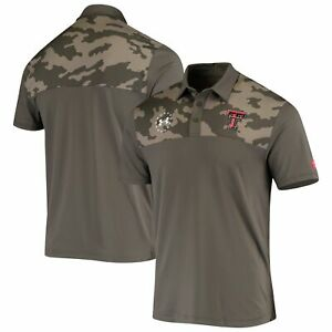 New Texas Tech Red Raiders men 4XL Under Armour polo golf shirt Freedom Camo NWT