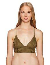 b948abb4481 O'Neill Womens Lana Bralette Bikini Top Swim Strappy Olive Green Large New
