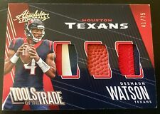 2018 Absolute #TT-DW Deshaun Watson 3 Color Glove Patch/ Ball TOTT 41/75 Texans