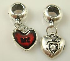 hot European Silver CZ Charm Beads Fit sterling 925 Necklace Bracelet Chain yl4S