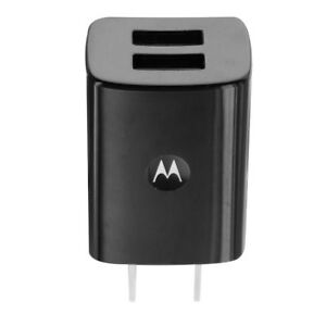 Motorola Travel Adapter w/ Dual USB (SPN5791A SPN5797A) for USB Devices - Black