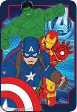 AGE OF ULTRON AVENGERS HULK IRON MAN CAPTAIN AMERICA BED THROW BLANKET TWIN
