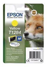 4 x Genuine Original Unused & Vacuum Sealed Epson T1284 Ink Yellow