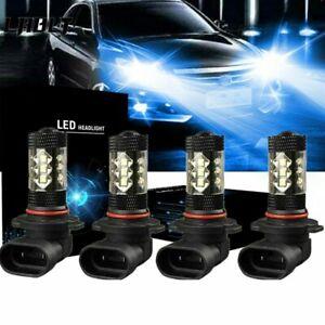 Combo 9005+9006 LED Headlight Low Beam Bulbs Kits Fog light 8000K Blue