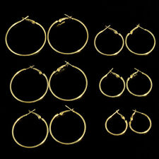 6Pairs/set Women Gold Silver Vintage Big Circle Hoop Earrings Steampunk Ear Clip